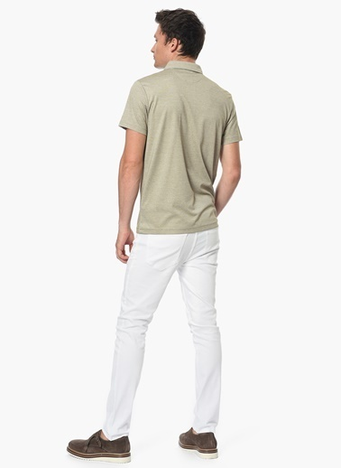 George Hogg Slim Fit Polo Yaka Tişört Bej